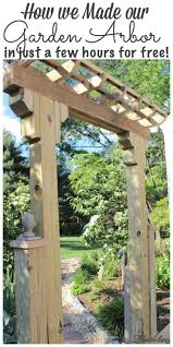 fabulous diy wooden arbor for the
