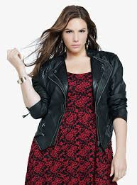 5 plus size outfits with leather jacket