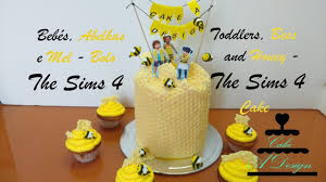 Bebés Abelhas E Mel Bolo The Sims 4 Toddlers Bees And Honey