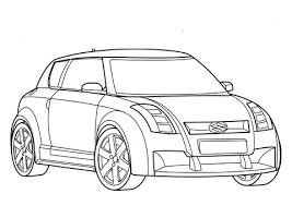 Suzuki Auto Kleurplaat Gratis Kleurplaten Printen