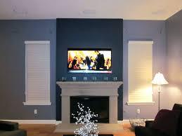 diy mount tv brick fireplace wall home design ideas flat screen above into