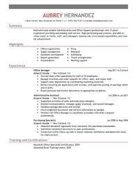 Sample Resumes For Administrative Positions Resume Sample
