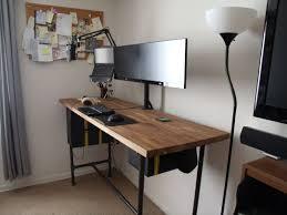 Counter Top Desks Standing Battlestation Desks Countertop And Gaming Setup