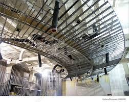 Interior metal framing Commercial Metal Construction Of Interior Of Commercial Building With Metal Framing Pinterest Metal Framing Stock Image I1596984 At Featurepics