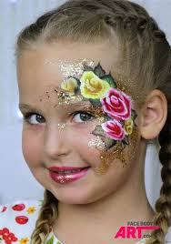one stroke roses face painting design