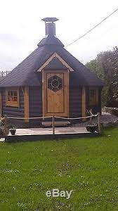 timber garden office. Grill Cabin BBQ Hut Timber Log / Summer House Garden Office, Shed 9.2m2 Office