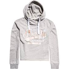 Superdry Womens Real Originals Satin College Crop Hood