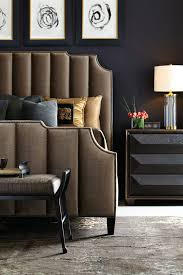masculine furniture. Masculine Bedroom Furniture Brown Upholstered And Nailed Bed For An Elegant Space With Pillows Lamp I