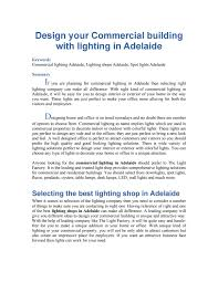 Light Factory Adelaide Design Your Commercial Building With Lighting In Adelaide By