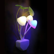 <b>Mushroom Fungus Night</b> Light EU & US Plug Light Sensor 220V 3 ...