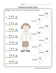 Multiplication Worksheet 1
