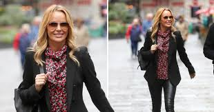 Amanda Holden is a boss in skintight <b>leather</b> trousers after winning ...