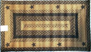 ihf lique star black tan braided jute rug rustic primitive country star area rugs wine country star braided rug black country star braided rug