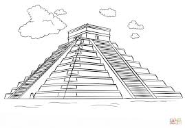 Small Picture Mayan pyramid Chichen Itza coloring page Free Printable