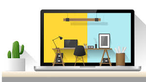 furniture similar to ikea. Interior Design Of Modern Office Workplace , Vector Illustration Furniture Similar To Ikea R