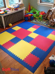 children s playroom floor using two sizes of softtiles interlocking foam mats create play mats with
