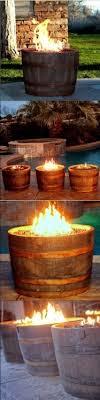 wine barrel fire pit rust features 90 000 btu