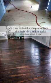 how to install an inexpensive wood floor that looks like an expensive hardwood floor for