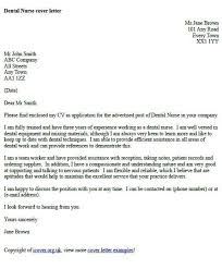 example of a cover letter uk dental nurse cover letter example cover letter example