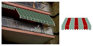 Tende Da Balcone In Plastica : G del re tenda da sole a caduta avvolgibile per balcone h
