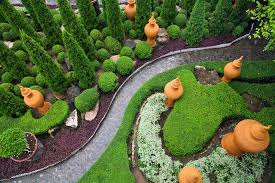 garden pathway. A Cool And Green Bird\u0027s Eye View Of This Garden Pathway Featuring Topiary Up-