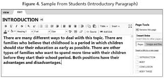 proposing a wiki based technique for collaborative essay writing figure 4 provides an example of an introductory paragraph of an essay written by a group of undergraduate students in a wiki environment