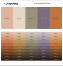 Brandy – Bone – Pale Oyster – Mobster – Copper Color scheme ...