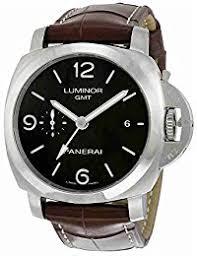 amazon co uk panerai watches panerai men s luminor 1950 44mm brown leather band automatic watch
