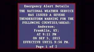 EAS Severe Thunderstorm Warning - 9 ...