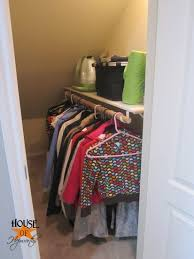 Under stairs closet organization Awesome Source House Of Hepworths Organizing Made Fun How To Organize An Under The Stairs Closet Omf To The Rescue