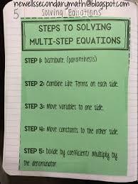 solving equations flipbook