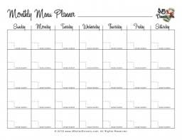 monthly meal planner template monthly meal plan tire driveeasy co