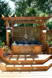 Hot Tub Backyard Ideas Plans Cool Decorating Ideas