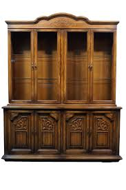 High End China Cabinets High End Used Furniture American Of Martinsville Gothic Revival
