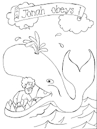 Small Picture Jonah and the Whale Coloring Pages for Preschoolers Coloring