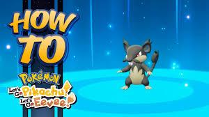 HOW TO GET Alolan Rattata in Pokémon Let's Go Pikachu & Eevee - YouTube