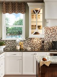 view in gallery kitchen backsplash with diffe shades of brown and neutral colors