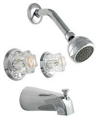2 handle shower faucet replacement. ldr 011 8700 double handle tub and shower faucet, chrome - two faucets amazon.com 2 faucet replacement
