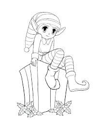 Inspirational Girl Elf Coloring Pages And Elf Coloring Pages And Elf