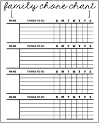 Chore List For Families Family Chore Chart 2 12 Timbers