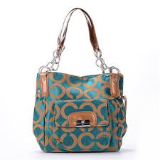 Coach Chelsea Lock Signature Medium Blue Totes EXS Give You The Best  feeling!