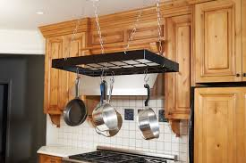 Hanging Kitchen Pot Rack Amazoncom Fox Run 7801 Rectangle Pot Rack With Chains And Hooks