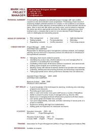 Construction Project Manager Resume Examples From Project Manager