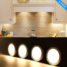 kitchen lighting under cabinet. LED Under Cabinet Lighting Kit 700lm Puck Lights Counter Kitchen Lighting,Closet Light ,Shelf Lighting,3000K Warm White CRI\u003e80,Backed 3M Tape,UL