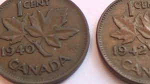 A 1940 And 1942 Canadian Leaf Penny
