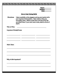 Program Notes Template Movie Notes Template