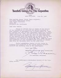 letter of termination of contract informatin for letter lot detail marilyn monroe historically significant signed contract termination letter