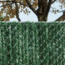 Vinyl fence panels home depot Brown Green Privacy Hedge Slat Vinyl Fence Panel The Home Depot Yardgard Ft Ft Green Privacy Hedge Slat Vinyl Fence