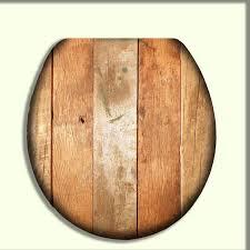 Toilet Seat with Rustic Light Orange Reclaimed Wood design