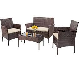 4 pieces outdoor patio furniture sets